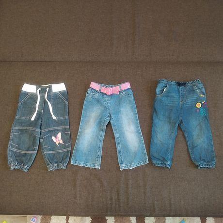 Джинсы для девочки 12-18 месяцев