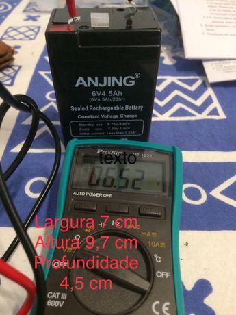 Bateria 6V 4.5 ah Nova