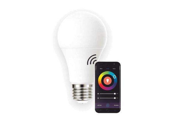 Inteligentna żarówka smart LED E27 WIFI TUYA RGB 8,5W na pilota kolory