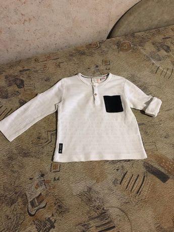 Детская белая рубашка Zara р.92