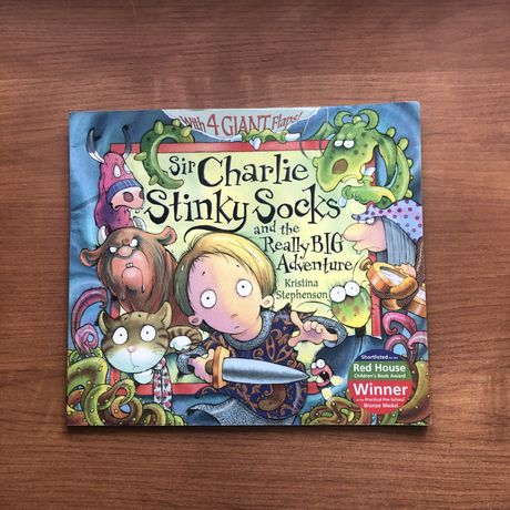 Дитяча книга англійською Sir Charlie Stinky Socks