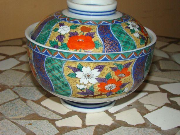 Szkatulka cukiernica japonska porcelana lata 70 miseczka