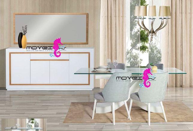Sala Jantar Completa com 4 Cadeira Novo