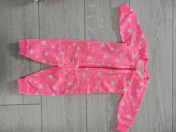 Pajacyk dla dziewczynki różowy