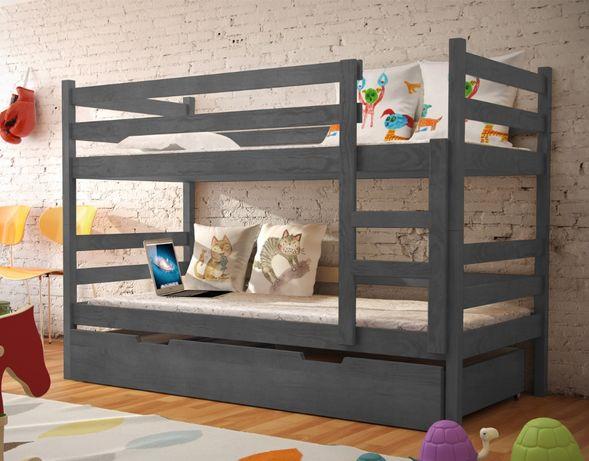 Nowe drewniane łóżko nela! Materace w zestawie!