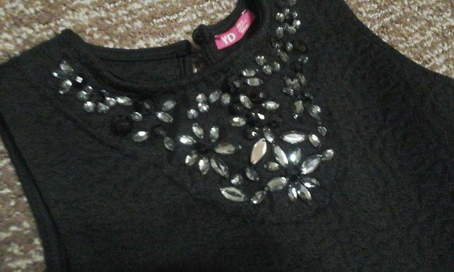 Фирменный школьный сарафан - платье черного цвета 122 - 128 next.