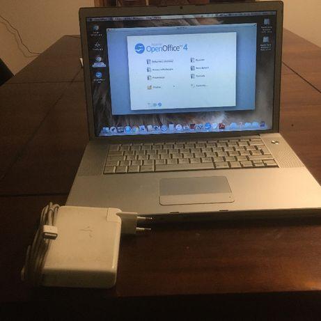 """Macbook Pro 15,4"""", A1211 z dobrą baterią i oryginalnym zasilaczem."""