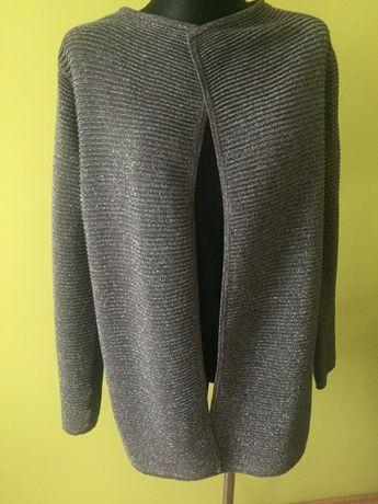 Sweter,narzutka w kolorze srebrnym