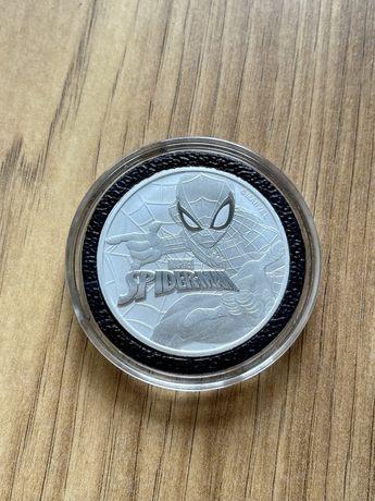 Spiderman unikat Marvel moneta kolekcjonerska  tuvalu