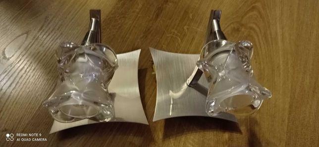 Żyrandol z 2 kinkietami z żarówkami halogenowymi 25 W