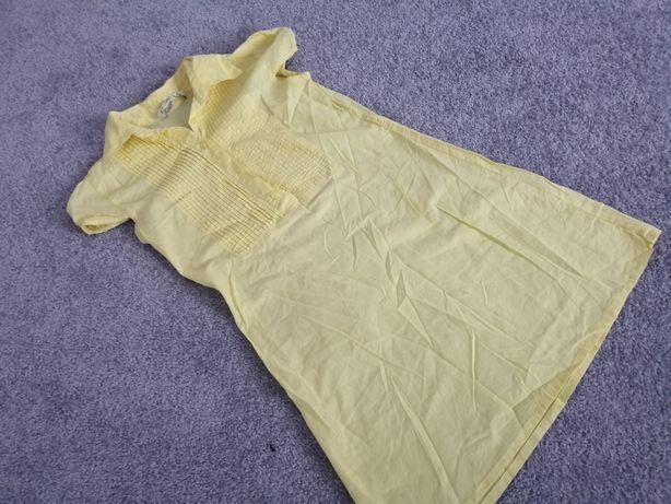 Żółta koszula dłuższa tunika sm