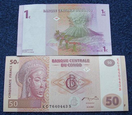 KONGO - Komplet Banknotów Kolekcjonerskich w Stanie UNC ZESTAW