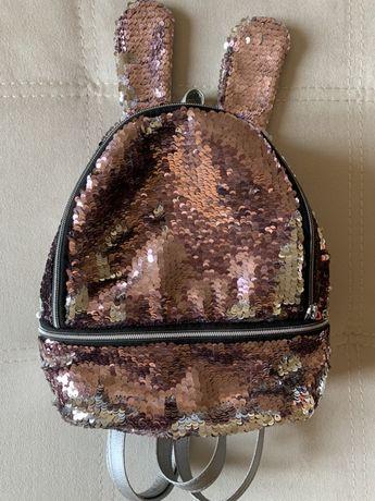 Детский рюкзачек ( сумка) с ушками