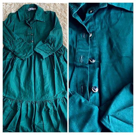 Zara raw sogo плаття зелене міні