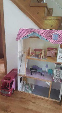Domek dla lalek drewniany + kamper