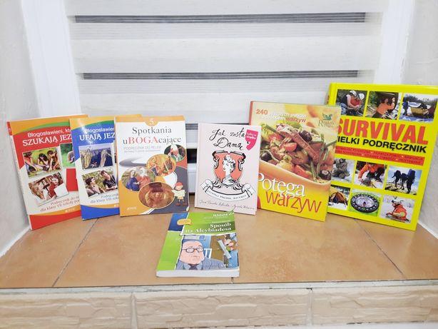 Książki, survival,jak zostać dama,sposób na alcybiadesa,potrawy