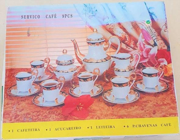 NOVO Serviço Café 9 peças