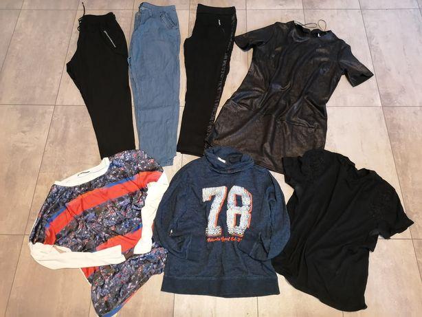7 szt paka ubran damskich w roz 42 (XL) spodnie, sukienka...