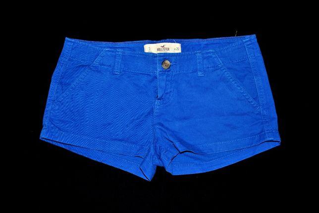 Шорты HOLLISTER синие джинсовые бренд 26 S крутые Англия яркие! Коротк