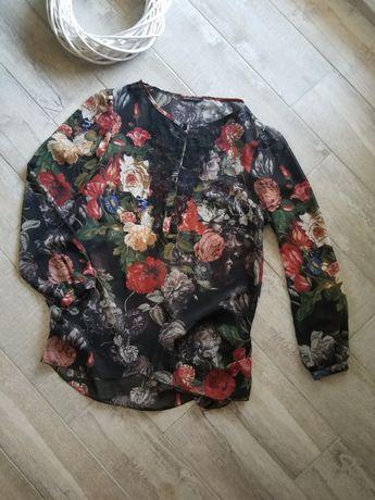 Блуза в квіти.. блуза цветочный принт