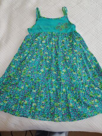 Vestido CATIMINI de menina turquesa