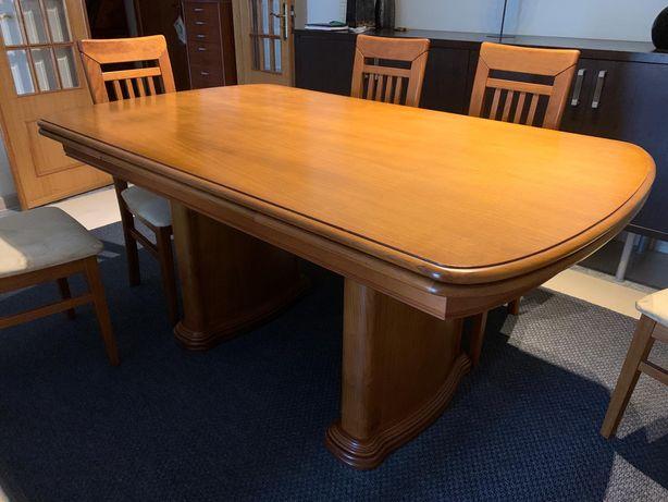 Mesa de jantar e 6 cadeiras em cerejeira maciça