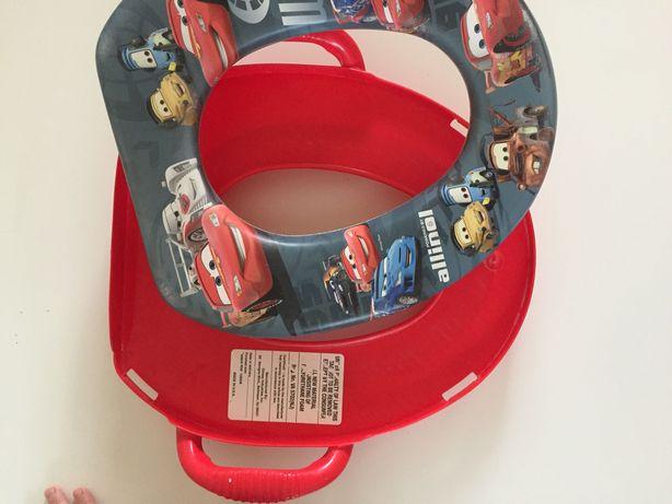 Zygzak Nakładka na toaletę dla chłopca i śliniak.