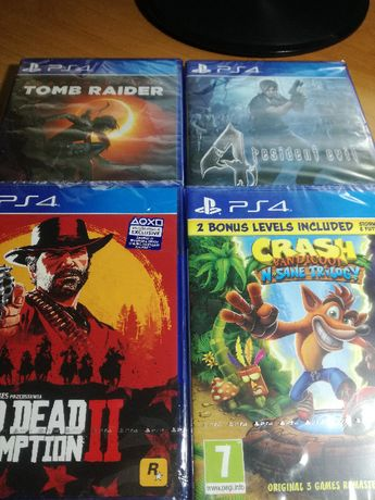 Nowe gry PS 4 Red Dead 2+Tomb Raider+Resident Evil 4+Crash Trilogy !