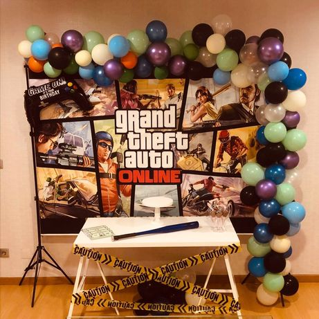 Fundo de festa / backdrop GTA