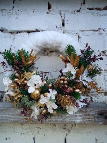 Новогодний новорічний різдвяний рождественский венок вінок декор