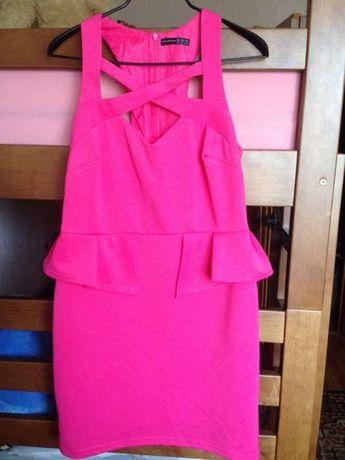 Стильное розовое летнее праздничное платье ATMOSPHERE новое