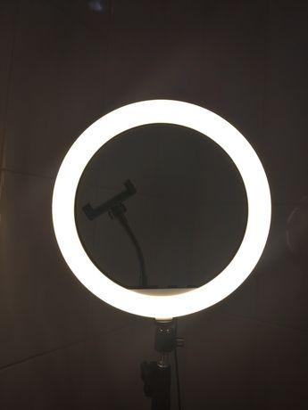 Кольцевая лампа Led 30 см Крепление для смартфона Штатив 220см.
