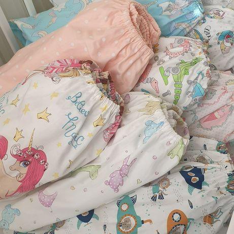 РАСПРОДАЖА НАЛИЧИЯ  Простынки в детскую кроватку Детское постельное