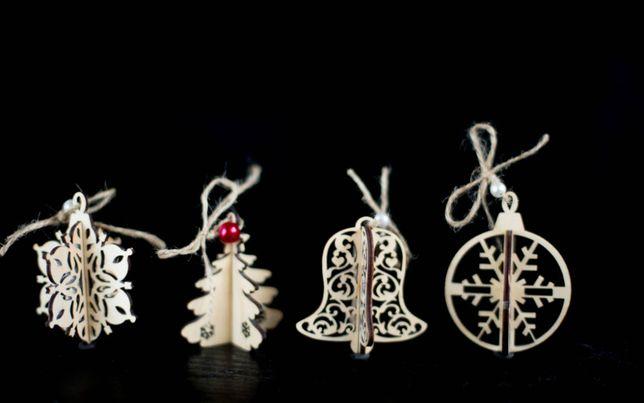 Подарунковий набір новорічних 3D іграшок (16 шт.)