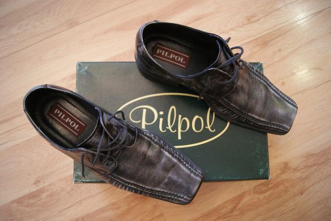 pantofle męskie, skórzane, Pilpol na studniówkę, wesele 39