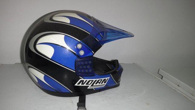 capacete nolan de cross vintage