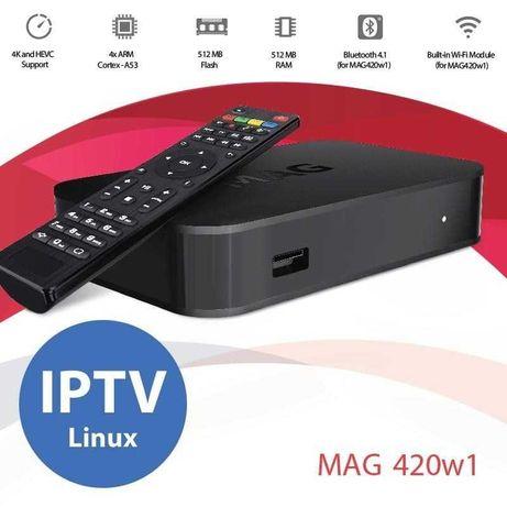 Box Mag 420 w1 - Wi-fi Linux IPTV 4k c/envio