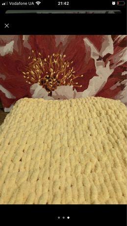 Детский вязаный плед, одеялко в кроватку