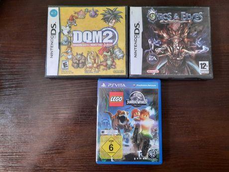Dragon Quest Joker 2, Orcs & Elves Nintendo ds, Lego Jurassic PL Vita