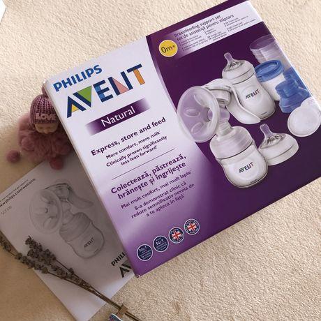 Молокоотсос  с контейнерами для хранения - Philips Avent