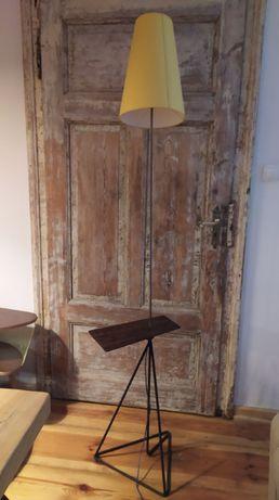 Stolik z lampą, lampa ze stolikiem PRL jak Gałecki