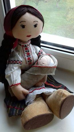 Кукла ручной работы мама с ребенком лялька в українському народному