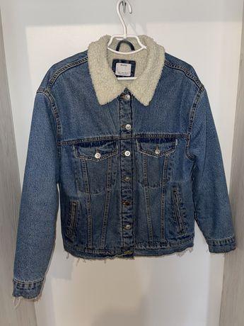 Джинсовая куртка, утеплённая