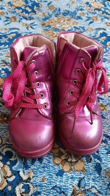 Рожеві черевики ботинки р.27