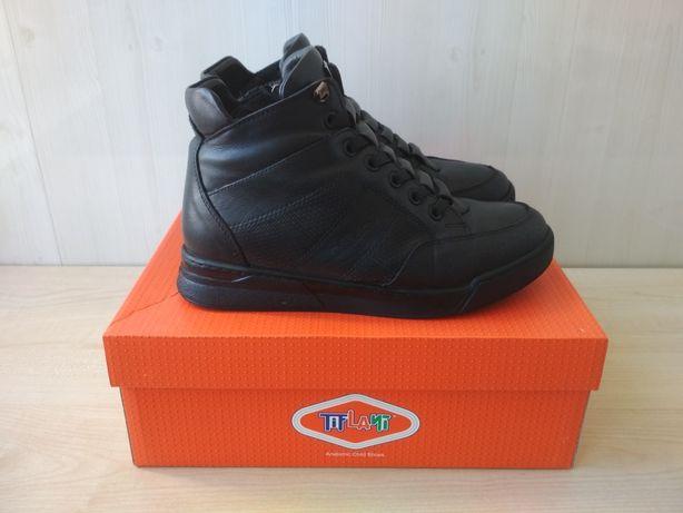 Зимнее кожаные ботинки на цыгейке фирмы Tiflani размер 34