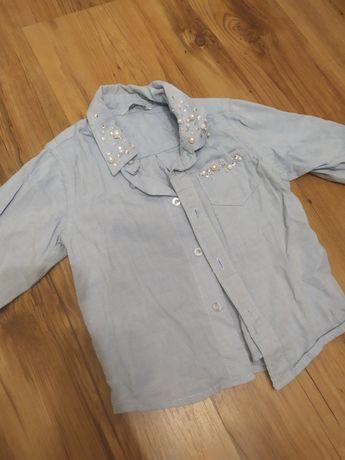 Koszula dziewczece jeansowa 86 cyrkonie cubus