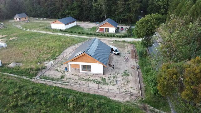 Dom drewniany z działką gm.Zblewo wg. Proj. Endo Drewniany w realizacj