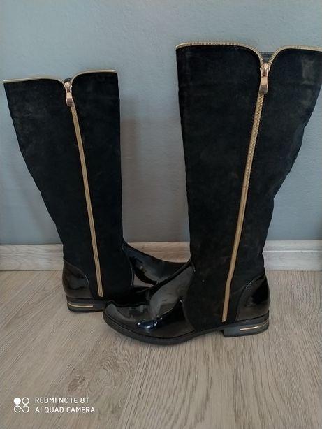 Buty, botki, zimowe damskie wysokie do kolana