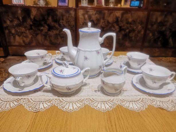 Serwis kawowy z czasów PRL dla 6 osób Bogucice