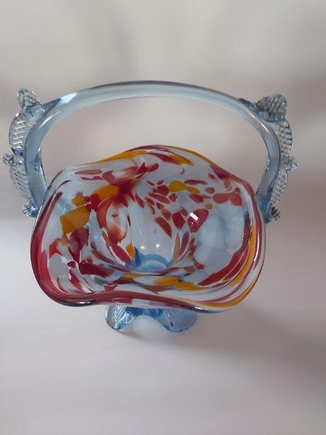 Koszyczek szkło kolorowe Ząbkowice